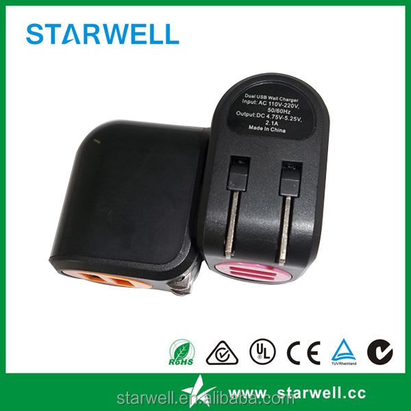 5V 2A dual usb port battery charger