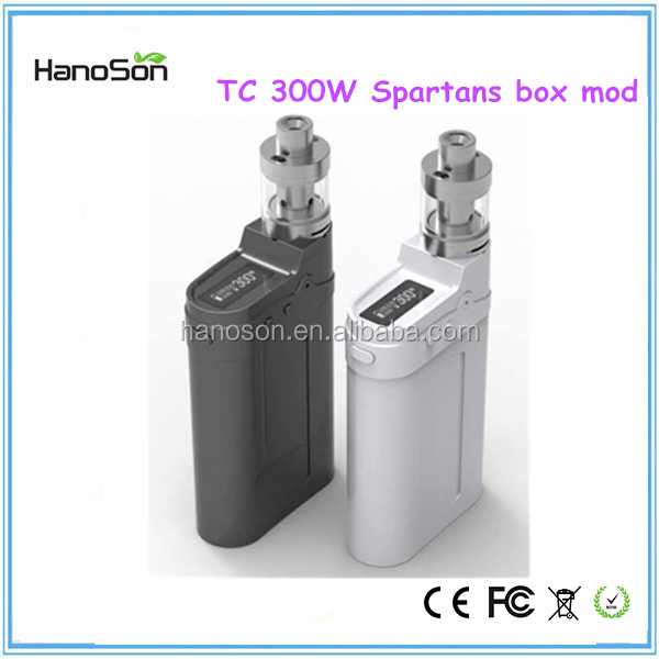 Top selling products spartans 300w TC box mod e cigarette 300w vv vw box mod spartans 300 watt e cigarette mini box mod