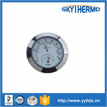 OEM and ODM supply for small round metal humidity sauna thermometer