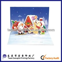 Recycle Christmas Quilling Paper Cartoon Handmade Card
