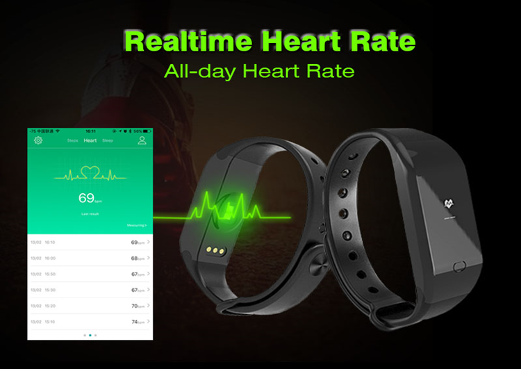 heart rate monitor smart bracelet bluetooth fitness bluetooth cicret smart bracelet