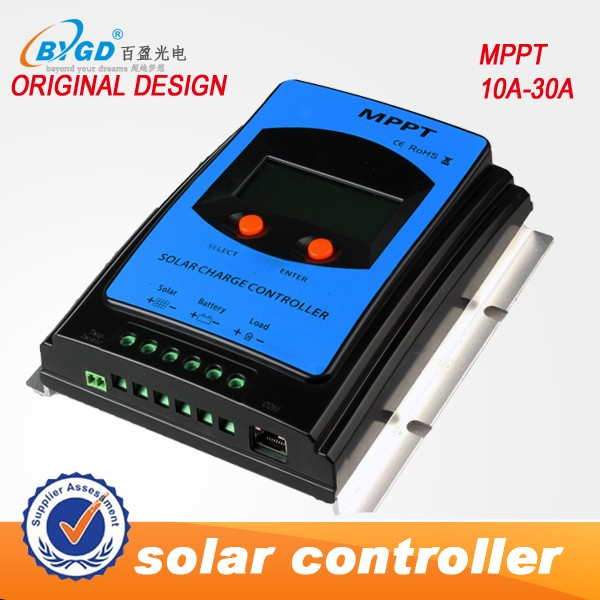 LCD 12V 24V high efficiency MPPT solar charge controller / 30A mppt solar controller