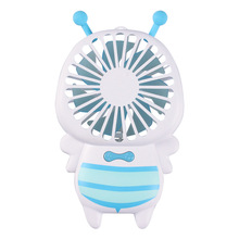 New cute bee design cheap Price mini usb electric LED fan with night light
