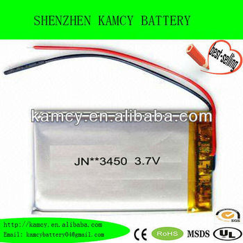 battery master 3.7V lithium rechargable battery 600mAh 3.8 li-polymer battery