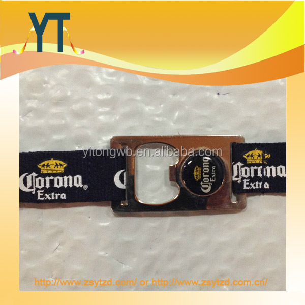 Cheap Custom Corona Extra Blue, White Emblem Bottle Opener Lanyard With Carabiner
