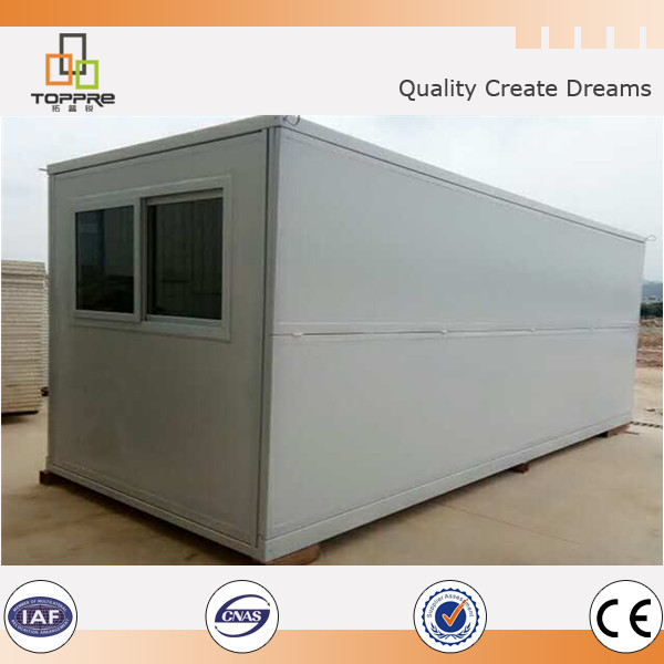 Ready Made fold up container house / folding light steel prefab home