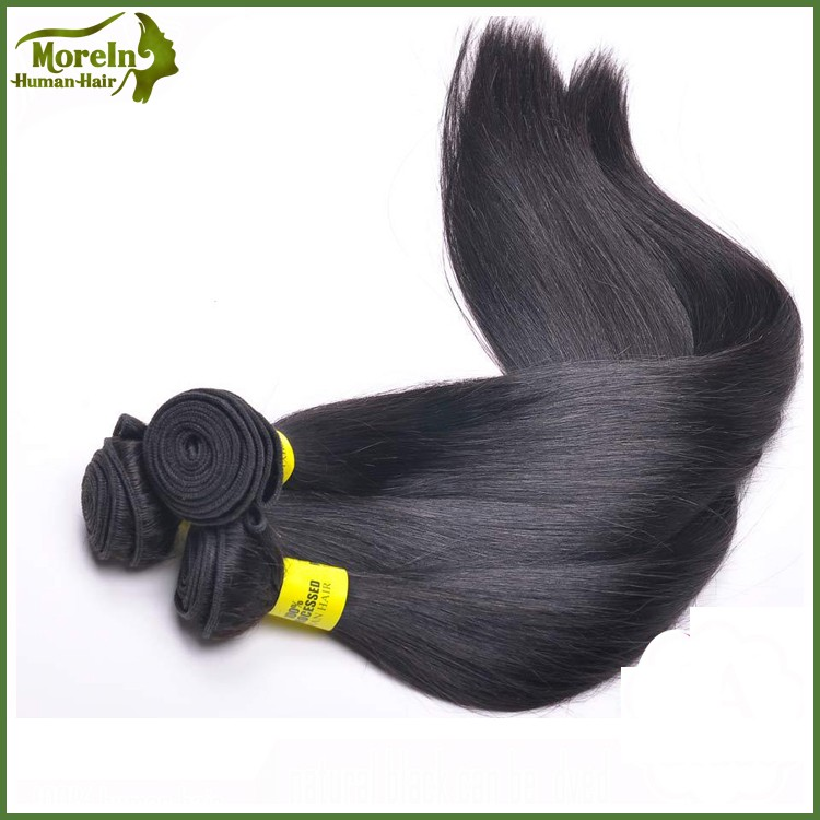 No shedding Brazilian human hair sew in weave 100% silky straight wave hair extension