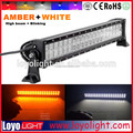 Flash Amber White color 20inch offroad truck 4x4 120W led light bar brake