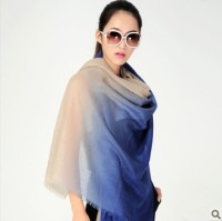 C0912034 Cashmere Origin Wholesale Gradient Top Natural Cashmere Scarf