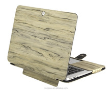 2016 Funky Tablet PU Case Wood Pattern Leather PU Cover Ultra Slim Lightweight Laptop Case for Macbook Air 13 inch wholesale