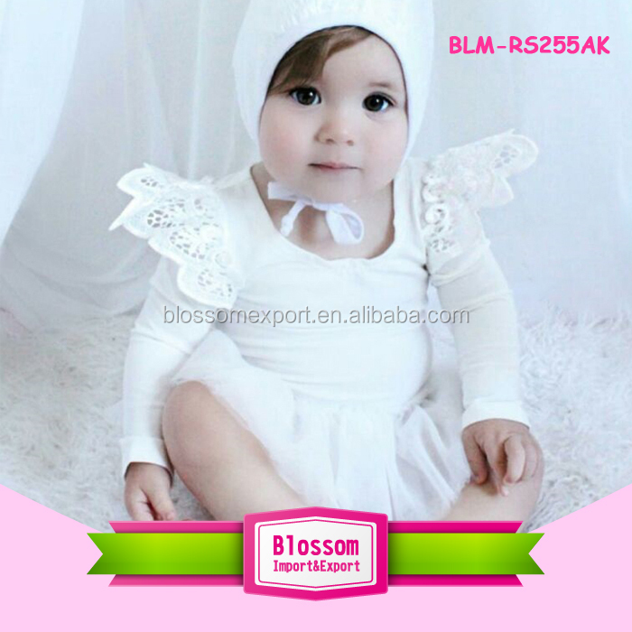 Bulk Wholesale White Baby Skirt Onesie Soft Long Sleeve Toddler Tutu Rompers