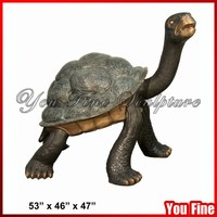 Casting Metal Walking Outdoor Decorative Bronze Tortoise Statue