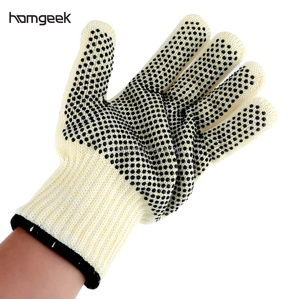 China factory Five Finger Heat Resistant aramid Grill Silicone BBQ Gloves