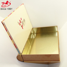 OEM printed book shape tin box