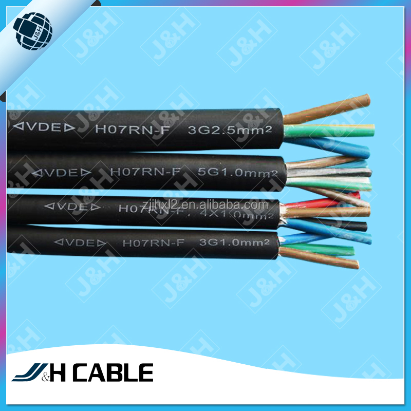 VDE Approved Rubber extension cords cable 3 Core Power Cable