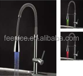 Big spring pull out LED kitchen faucets FNF32101A