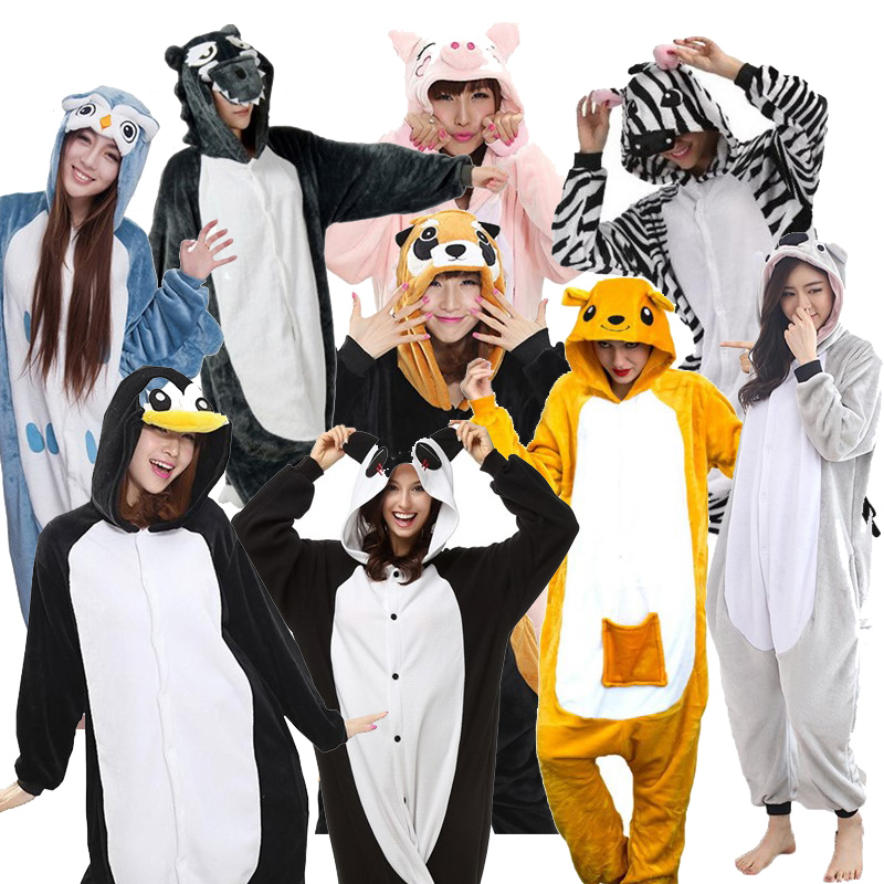 Uniway Animal Costume Adult Unisex Kigurumi Onesie Pajamas Plush Flannel Pajamas Wholesale