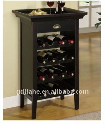 European tray top Wooden Wine cabinet, wine display cabinet