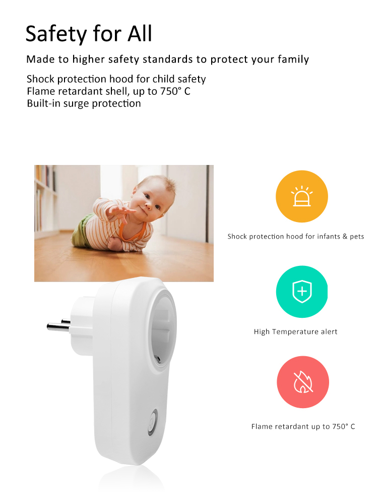 EU plug wifi smart plug remote control