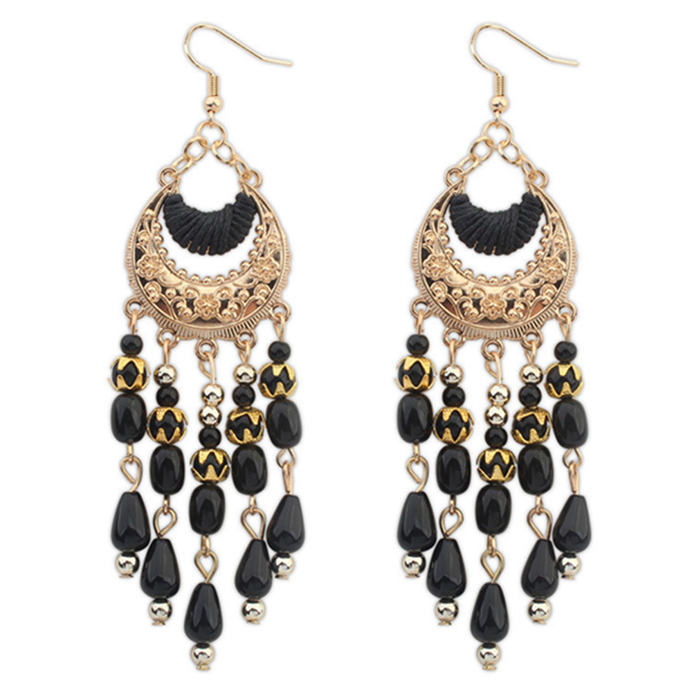 New Design Factory Handmade Gold Plating Girls Crystal Earring Women Party Hoop Earring WIth Crystal