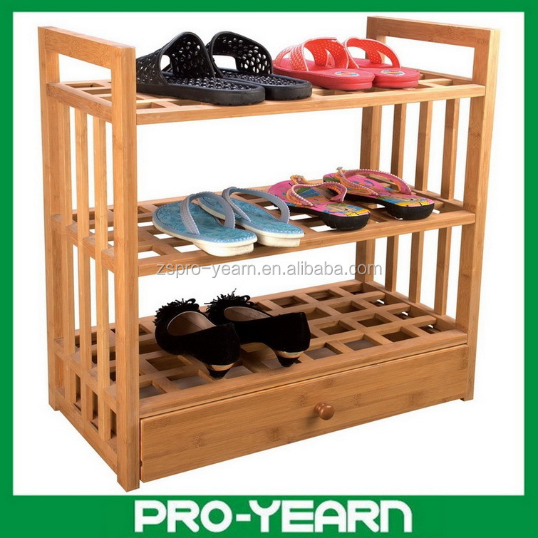 3 Tiers Bamboo Shoe Rack