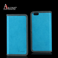 Soft blue leather mobile phone case for iphone covers for iphone 6