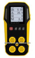 4 Gas Analyzer, Gas Monitor for CH4/LEL, CO, O2, H2S