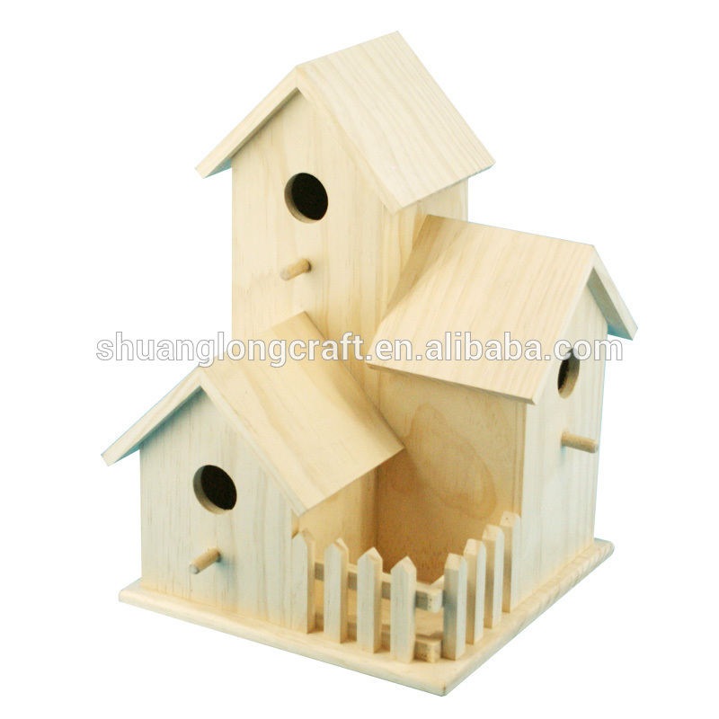 2017 eco-friendly wooden bird nest with FSC&SA8000 made in china