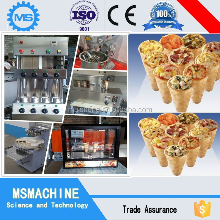 low price fast food restaurant pizza cone machine pizza cone moulding machine
