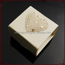 2016 one piece paper box foldable paper box with ribbon heart shape ribbon for wedding decorative