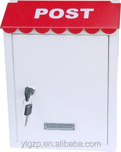 Small Size With Powder Coating With waterproof plexiglass suggestion box
