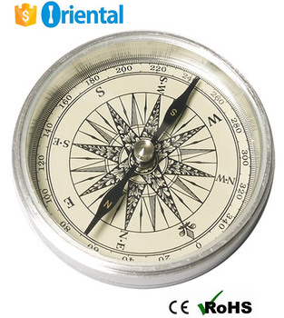 Gift Compass Metal Aluminum Silver Case,Outdoor Compass with Gift Box Alibaba China Supplier