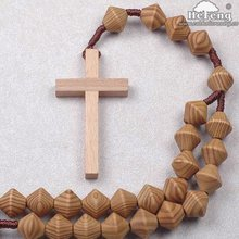 Special Shape Pine Wood Wall Rosary