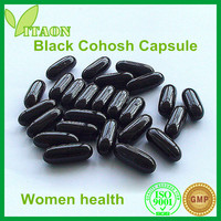 500 mg ISO,GMP Certificate and OEM Private Label Black Cohosh Root Extract Capsule for Menopausal syndrome