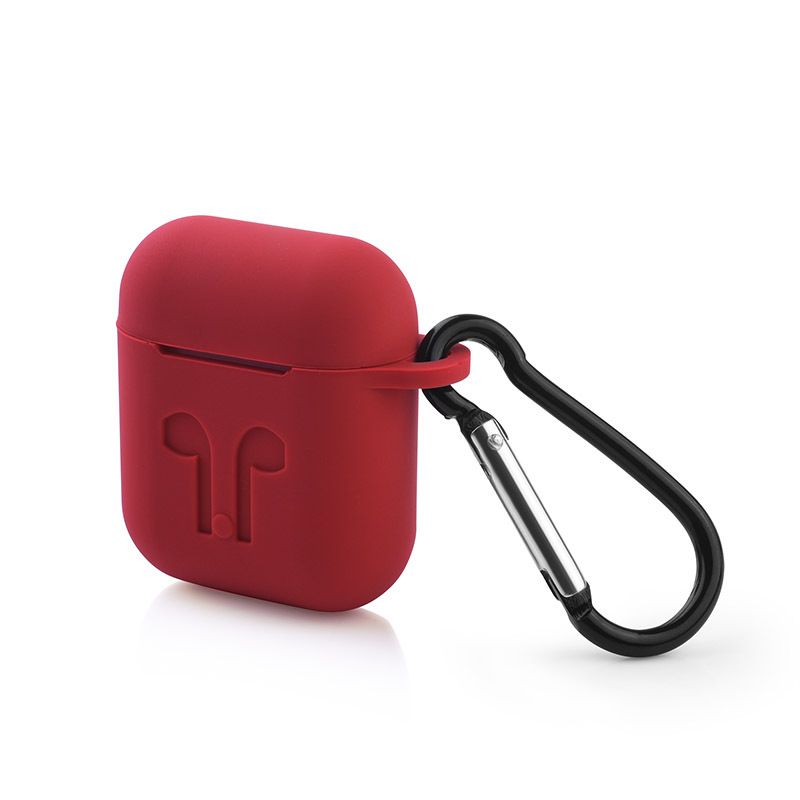 Popular Carabiner Added Perfect Fit Silicone Case for Air Pods Bag Cover