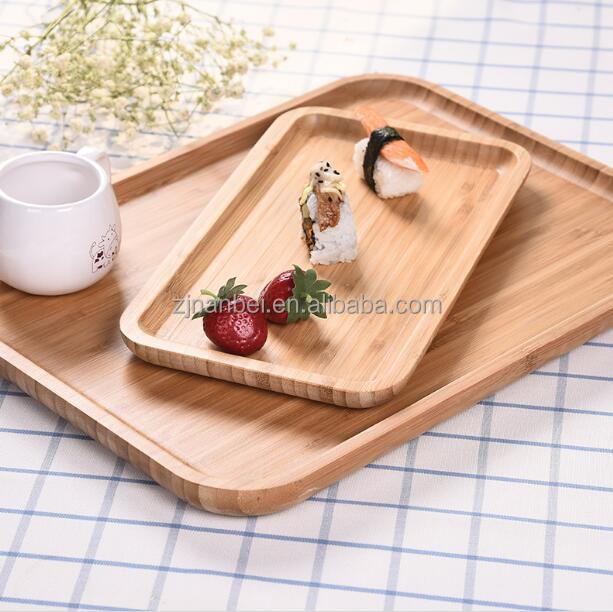 Custom logo small wooden food tray hotel cheap bamboo tray