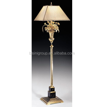 Finely cast luxury downlight bronze floor lamp with marble for Downlight floor lamps