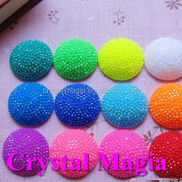 shining jelly colour flatback resin stone for dress decoration