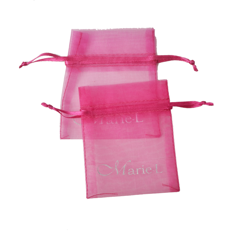 China manufacturer wholesale cheap organza gift bag pink 8*10cm