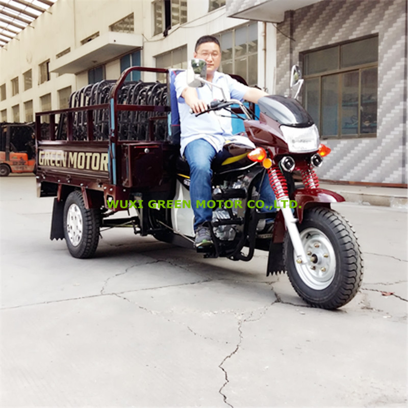 3 wheel motorcycle hydraulic 150cc tipper cargo tricycle