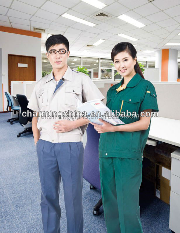 comfortable professional work uniform short sleeves