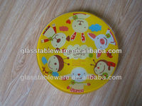 colored glass plates, tempered glass plate/ tableware