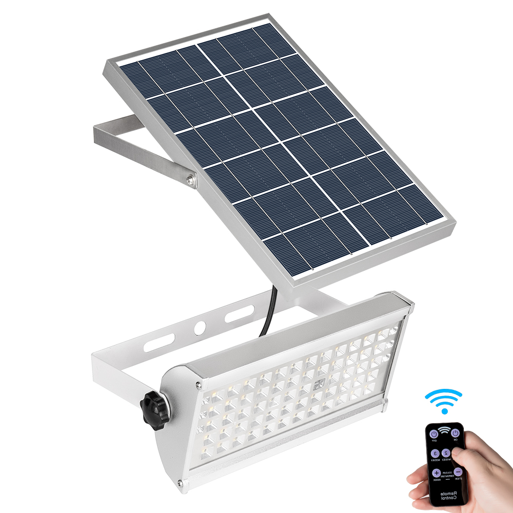 65LED 2500lm Microwave radar sensor Solar Flood <strong>light</strong> 30W solar motion sensor <strong>light</strong> Outdoor Wall Lamp with remote <strong>control</strong>