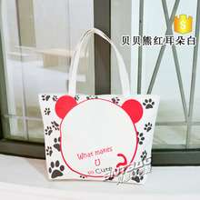 Fashion high quality shopping customized promotional gift cotton bag