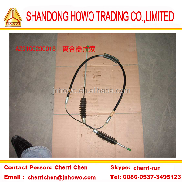 clutch cable WG9100230018 sinotruk heavy duty parts