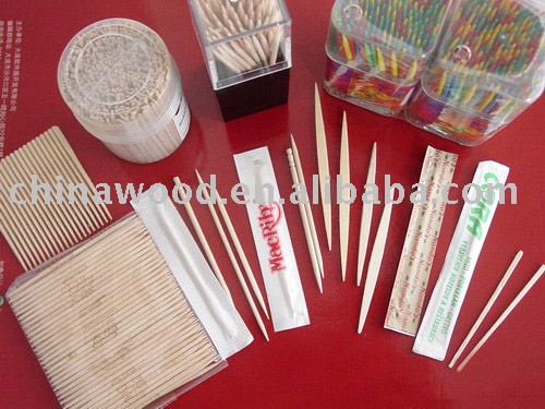 Wooden toothpick for sale