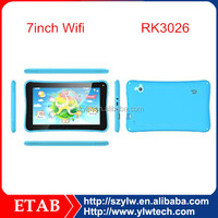 7 Inch RK3026 Dual core kids tablet
