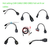 Promotion CDP PRO Car Cables obd2 Diagnostic Connector Interface For Multi Brand Cars Full Set 8 pcs tcs cables