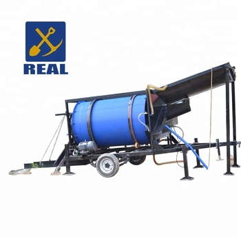 Real mining hot sale gold separator mini trommel