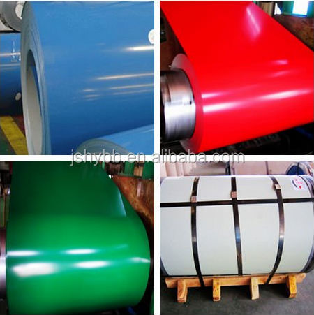 Huiye different width DX51D color coated iron sheet in coil for Metal Roofing Sheets Building Materials